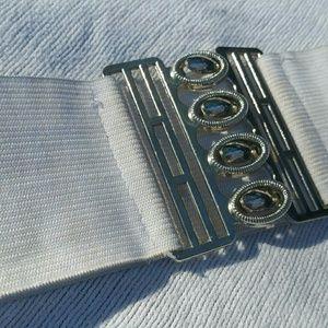 Accessories - White Elastic Belt